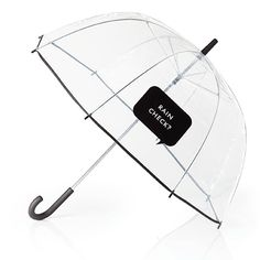 """Clear Umbrella With """"""""Rain Check?"""""""" by Kate Spade"""