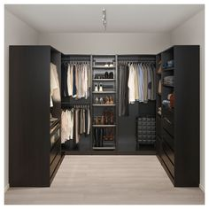 PAX Corner wardrobe – black-brown – IKEA Source by rinnoroni Next Previous Corner Dining Bench Small Kitchen Table With Corner…Home Story Ikea pax wardrobe Walk In Closet Design, Bedroom Closet Design, Master Bedroom Closet, Closet Designs, Bathroom Closet, Small Walk In Closet Ideas, Ikea Bedroom, Bedroom Black, Bedroom Furniture