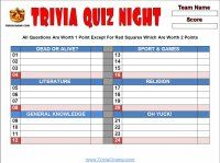 website with TONS of free printable trivia questions