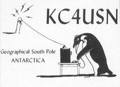 Calling my Antarctica via ham radio.