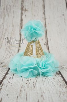 1st Birthday Hat Girl 2nd Girls By PoshPeanutKids Hats Mermaid Theme