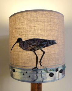 Curlew shade producing a lovely glow when lit up.  http://www.johilltextiles.co.uk/lampshades