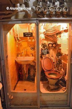 The cramped basics inside the submarine, INS Kursura Submarine Museum