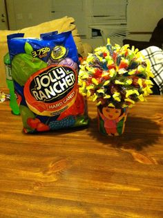 Dora candy bouquet