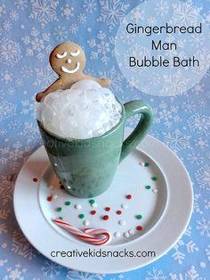 Gingerbread Man Bubble Bath by Creative Kid Snacks, via Flickr