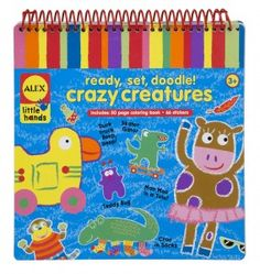 Ready Set Doodle – Crazy Creature - A Doodle Pad for little ones at home, on the go, or anytime they need a quiet activity! Lots of creative activities to keep little minds and fingers busy!
