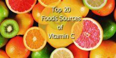 Top 20 Food Sources of Vitamin C