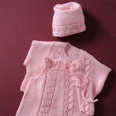 41a8f1870e3ca Eleonora baby organic cotton dress cardigan and bonnet 3-6-12 months. Tricot  Layette FilleModele Tricot LayetteRobe ...