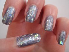 glitter nails | lilac and chunky glitter nails