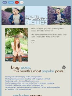 Get these handy dandy letters in your inbox! Pop your deets in here: http://mad.ly/signups/34360/join    :::    In this edition: how to say no, photographing women and dealing with negative self talk, marketing for small business owners, hacking the facebook dilemma, better SEO for your website and exclusive info about dealing with color casts in your photography.