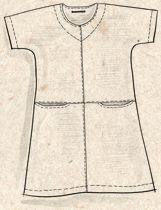 """Kolmivärinen tunika – """"Tussilago"""" – GUDRUN SJÖDÉN - vaatteita verkossa ja postimyynnissä"""