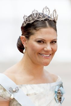 Crown Princess Victoria wore the Connaught tiara for the very first time.