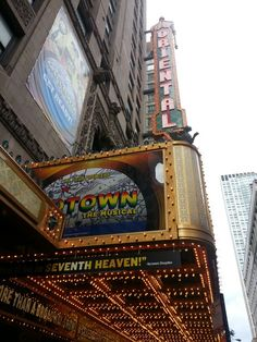 """MOTOWN the Musical"" marquee Oriental Theatre Chicago 6-28-14"
