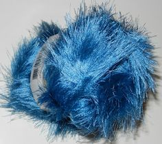 Eyelash Novelty  Yarn Blue by JuliaLCraft on Etsy, $2.60