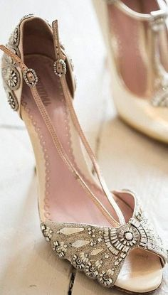 Ornate art deco inspired shoes.