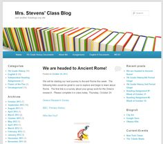 This is a class blog for Grade 7 History and 8 Grade English.