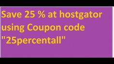 25% Off Hostgator Coupon Code From HGCARJD.com