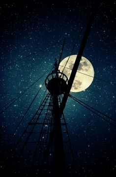 Episode Backgrounds, Phone Backgrounds, Decoupage Vintage, Vintage Photography, Amazing Photography, Moonlight Photography, Pirate Life, Beautiful Moon, Tall Ships
