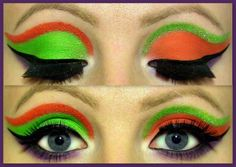 Mad Hatter Alice in Wonderland makeup...luv this look for Halloween.