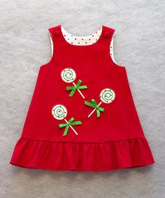 Take a look at this Red Lollipop Jumper - Toddler by Katie Bug Casuals on #zulily today!