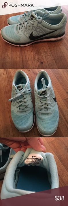 Nike flex shoes Nike flex shoes in light blue. In excellent condition. Nike Shoes Athletic Shoes