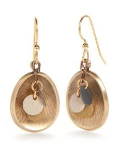 Silver Forest  Gold-Tone Artisan Alley Cluster Drop Earrings
