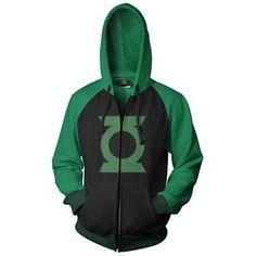 Green Lantern Logo Men's Zip Hooded Sweatshirt « Clothing Impulse