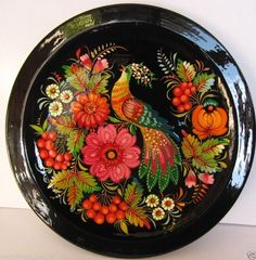 Folk art Ukrainian Handmade  wooden Plate  with Petrykivka Painting home Decor in Colecionáveis, Artigos domésticos e para cozinha, Artigos para a cozinha, Outros artigos de cozinha colecionáveis | eBay