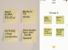 Post-it Brand just released an update for iOS 8 that offers the ability to create digital Post-it Notes within the app so that you can quickly add new ideas to your board anytime, anywhere, even after the meeting ends