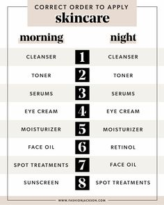 The Correct Order to Apply Skincare Products | My Morning and Evening Skincare Routine | Fashion Jackson Facial Routine Skincare, Dry Skincare, Morning Skincare Routine, Face Care Routine, Skin Care Routine Steps, Skin Routine, Makeup Routine, Lip Care Tips, Top Skin Care Products