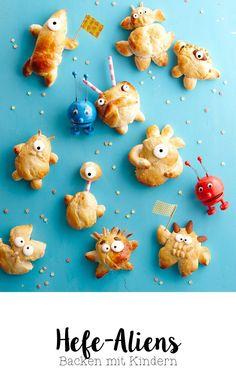 Besuch der Außerirdischen – Wundertütchen cakes for kids creative Monster Party, Monster Food, Space Party, Space Theme, Snacks Für Party, Food Humor, Cooking With Kids, Creative Food, Food Inspiration