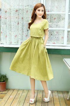 Vintage Style Dresses, Lovely Dresses, Stylish Dresses, Simple Dresses, Casual Dresses, Fashion Dresses, Long Summer Dresses Casual, Mori Girl, Casual Frocks