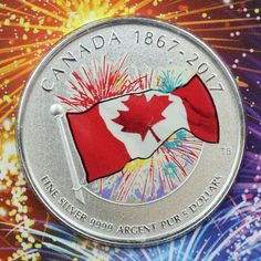 2017 Proudly Canadian 1/4 oz. Pure Silver Glow-in-the-Dark Color Specimen Coin