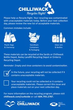 Important Information: Our Recycling Program is Changing on March 1st - City of Chilliwack