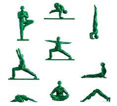 Yoga+Joes:+Little+Green+Army+Men+Performing+Yoga+Poses