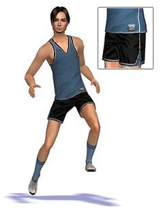 Mod The Sims - Maxis Match sport clothing for men (6 outfits)