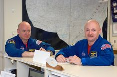 NASA astronaut Scott Kelly and his twin, former astronaut Mark Kelly