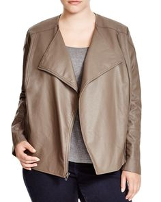 Bb Dakota Plus Irene Faux Leather Jacket