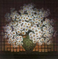 """""""Le bouquet de marguerites"""" Peinture de l'artiste chinois Chen Huimin"""