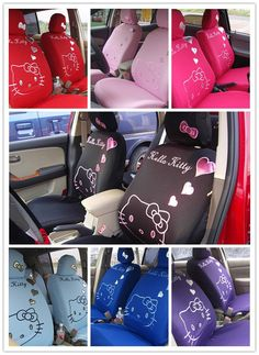 Pop Universal Hello Kitty Car Seat Covers Front Rear Cover Accessory Set 10 Pcs New