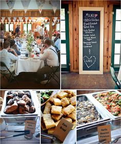 Crafty Camping Wedding in Main filled to the brim with diy wedding delights. Like hand made bottle labels and mason jar floral arrangements. Wedding Reception Food, Camp Wedding, Wedding Catering, Wedding Menu, Summer Wedding, Diy Wedding, Rustic Wedding, Dream Wedding, Wedding Ideas