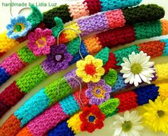 These remind me of my grandmother who made tons of these crocheted hangers!