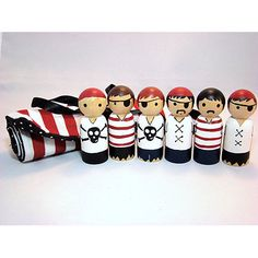 25 of the Best Handpainted Wooden Clothespin And Peg Dolls | Babble **Love the roll up**