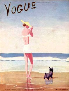 vintage cover of Vogue: