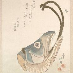 Head of a Salmon, Totoya Hokkei