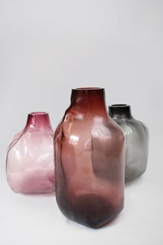 fabio vogel, a young designer from germany, presents '105 ltr formen', a new collective of vases and multi purpose glass forms.