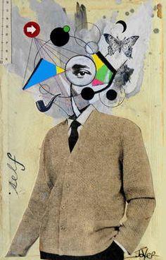 "Saatchi Art Artist Loui Jover; Collage, ""mr creative"" #art"