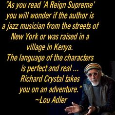 Gotta Love Lou! And he's right. A Reign Supreme is a great book!