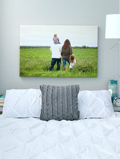 Get creative with photo displays in your home.