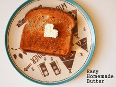 Make easy homemade butter by shaking up heavy cream